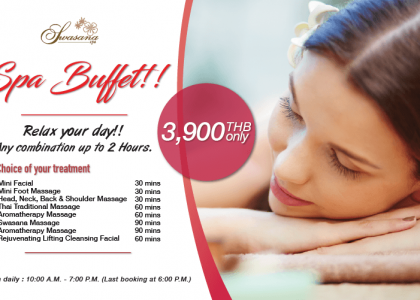 Spa buffet, special summer promotion